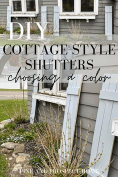 These DIY Cottage Style Shutters are probably one of the easiest projects we've ever taken on. They add so much charm and character to our home, and recently I decided to give them a makeover! Fall Home Decor, Autumn Home, Cheap Home Decor, Diy Home Decor, Modern Farmhouse Exterior, Farmhouse Style, Farmhouse Decor, Porch Decorating, Decorating Your Home
