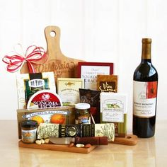 Wine and Cheeseboard Gift. See more at www.pro-gift-baskets.com!