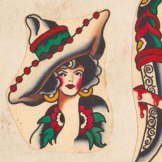 Vern Ingemarson design from the Sailor Vern book. Sword Tattoo, Tattoo Ink, American Traditional, Neo Traditional, Traditional Tattoo Old School, Finger Tats, Geometric Tattoo Arm, Traditional Tattoo Flash, Vintage Flash
