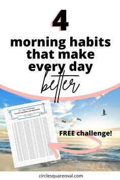 Take the Challenge!  In 31 days, you will develop 4 tiny habits to do every morning that will have big benefits for the rest of your life. Bad Morning, 31 Day Challenge, National Sleep Foundation, Morning Habits, Self Care Activities, Self Motivation, Time Management Tips, Inspire Others, Motivate Yourself