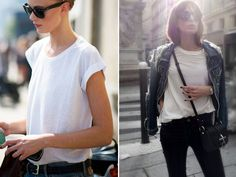 Spotted: Simple White Tee @HonestlyWTF
