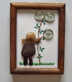 Pebble Art - Rock Art - Friends - Inspiration - Family - Daughter - Rustic - Primitive - Garden: