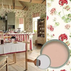 """I kind of like this Laura Ashley kitchen--but it might be even too """"busy"""" for me!"""