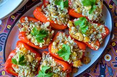 Gluten Free SCD and Veggie: Stuffed Peppers with Cauliflower Rice - Suma Bloggers Network GF SCD