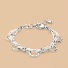 Fossil® LES DERNIÈRES NOUVEAUTÉS Bijoux:Femme JF87851 - Bracelet à breloques en acier inoxydable JF87851