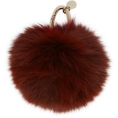 Yves Salomon Burgundy Fur Keychain (€64) ❤ liked on Polyvore featuring accessories, fillers, bags, burgundy, fob key chain, yves salomon and fur key chain
