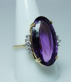 Amethyst And Diamond Ring, Amethyst Jewelry, Diamond Jewelry, Gold Jewelry, Jewelry Rings, Jewelery, Jewelry Accessories, Gold Platinum, 18k Gold