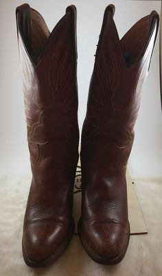 Vtg Frye Boots Womens5.5B Embroidered Wine/Brown Color Western Cowgirl 2 3/4Heel | Clothing, Shoes & Accessories, Women's Shoes, Boots | eBay!