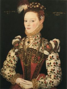 Thought to be Lady Helena Snakeborg, Marchioness of Northampton by an artist of the British School, 1569.