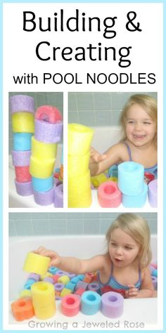 Oodles of Noodles, Bath time fun with pool noodles! {Bath Activities for Kids} Fun Math Activities, Toddler Activities, Cool Diy, Projects For Kids, Diy For Kids, Diy Bebe, Toddler Fun, Kids Corner, Kids Playing