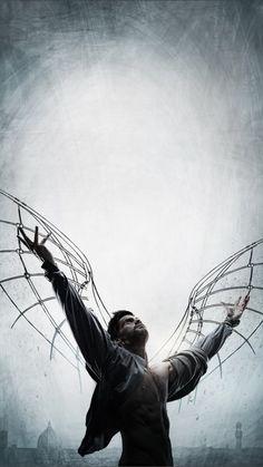 "Tom Riley as Leonardo Da Vinci in ""Da Vinci's Demons"", 2013-5, three seasons."