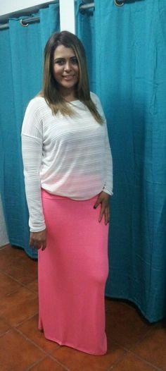 las maxi faldas tambien favorecen a la mujer voluptuosa