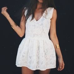 Lace oversized dress #nunugirl