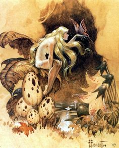 FRANK FRAZETTA - Fairy - 1949