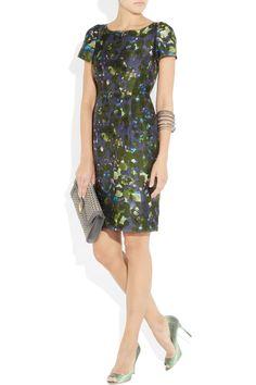 J.Crew Lillian watercolor-floral wool-blend dress NET-A-PORTER.COM