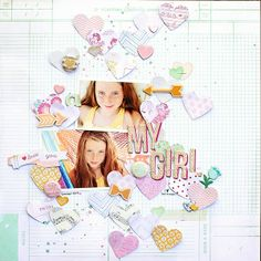 #papercraft #Scrapbook #layout.  You, Me  Crazy: Pale pages for Crate Paper