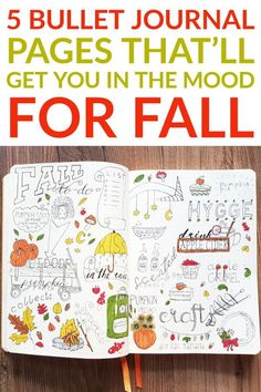 These 5 bullet journal pages will get you in the mood for fall #anjahome #bulletjournal #fall #pages