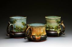mugs created by a good friend of mine, Kate Westfall. Heirloom Pottery is her own personal business. Terrific ceramicist!
