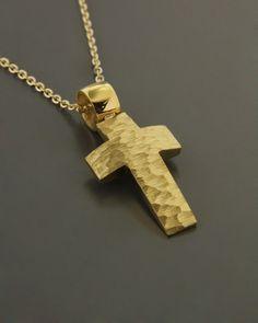 Σταυρός χρυσός Κ14 Cross Jewelry, Baby Boy Gifts, Metal Working, Handmade Jewelry, Bracelets, Necklaces, Pendants, Symbols, Letters