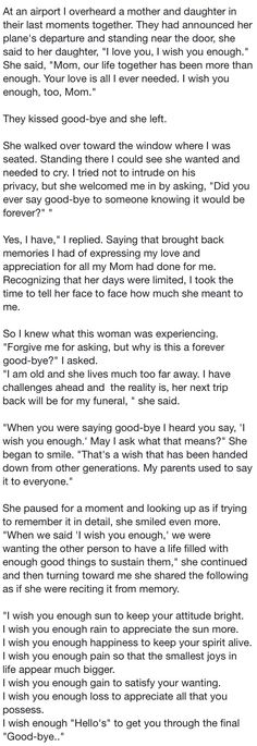 Such a beautiful story, I wish you enough...