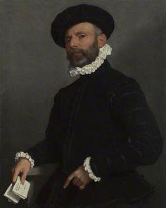 L'avvocato (The Lawyer) Portret van een man die een Brief, 1570 Moroni