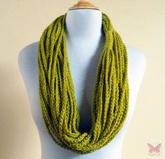 Infinity scarf  LEMONGRASS Chain scarf  by OriginalDesignsByAR, $14.95