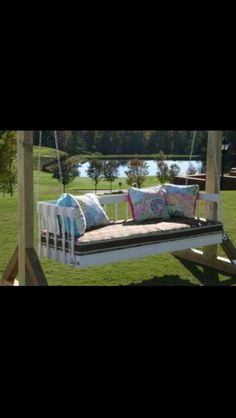Outdoor swing lounge
