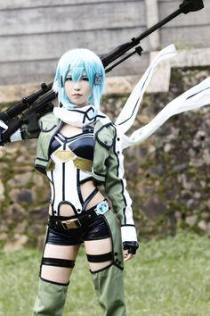 cosplay sword art online GGO Matcha Mei(Mei) Sinon コスプレ写真 - WorldCosplay