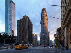 New York. Flatiron building. Madison sqare. Full CGI.