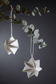 """Pleated Stars"" - brand new hand pleated Christmas decorations designed by Tine Mouritsen, Denmark - for Livingly. #allgoodthings #danish #danishdesign by @tinemouritsen spotted by @missdesignsays"