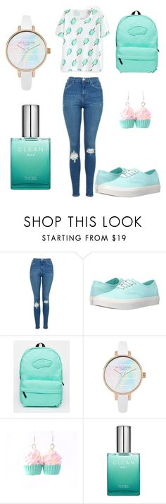 """pale green blue set"" by evagelialove on Polyvore featuring Topshop and Vans"