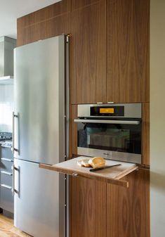 design cuisine plan de travail escamotable idée mobilier rallonge cuisine pratique