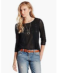 LACE PEASANT TOP