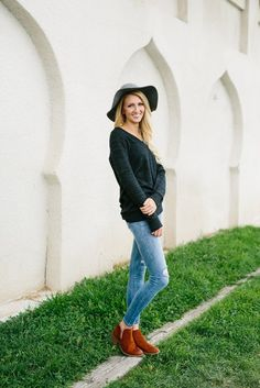 Coziest Long V-Neck Sweater- Charcoal