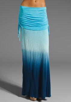 YOUNG, FABULOUS & BROKE Sierra Skirt in Sky/Navy Sunset Ombre at Revolve Clothing