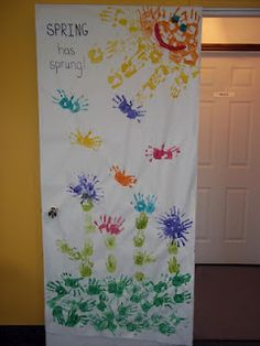 Spring has sprung! Door Decoration So making this tomorrow just have to figure out where & Spring classroom door decorations #spring #pinwheel #school ...