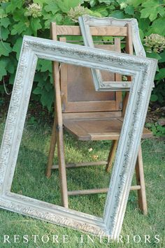 how to chalk paint on frame