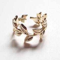 Vintage Leaves Ring