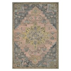 Pink and Gray Vintage Wool Rug - Threshold™ : Target
