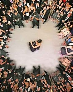 The first dance…in aerial view.
