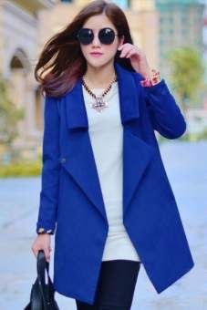 Fashion Notched Collar Coat