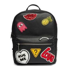 Backpack with patches ❤ #patches #streetwear