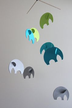 Baby Mobile Elephant Mobile Elephant Nursery by EDMobiles on Etsy