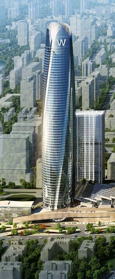 Huaqiang Golden Corridor City Plaza Main Tower, Shenyang, W Hotel Shenyang, China :: 66 floors, height 327m