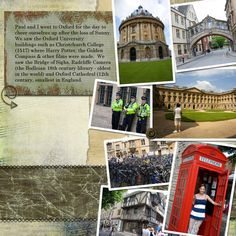 Scrapbook Pages England | Oxford, England - Digital Scrapbook Place Gallery