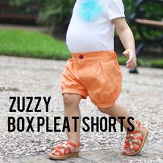 Süße kurze Hose nähen, 18-24 Monate - Box Pleat Shorts