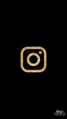 Black And Gold Aesthetic, Black And Gold Theme, Instagram Widget, Instagram Logo, Gold App, Black App, Wallpaper Iphone Neon, Apple Icon, Iphone App Design