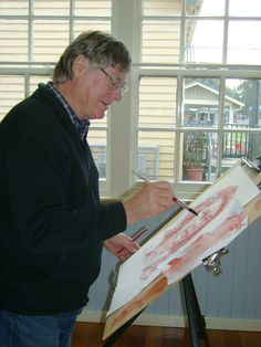 Alan Close, Artstream Tutor & Artist.  All you need is a passion for art and a desire to learn.