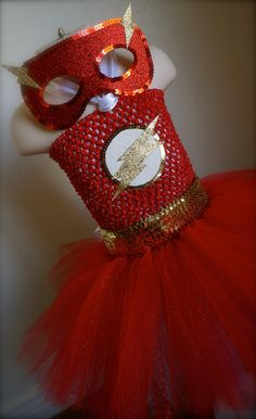 Made to order. The Flash inspired tutu dress costume. Great for dance recitals, Birthday parties, photo shoots, Halloween or even dress up. on Etsy, $57.00