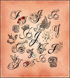 lettering tattoo #J poster